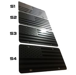 DEEP Gray Stealth License Plates